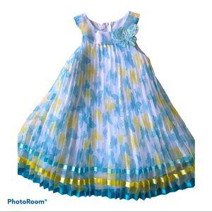 Jessica Ann Girl Spring Blue Butterflies Dress 5